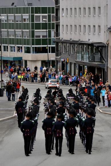 Oppmarsj til Harstad sentrum