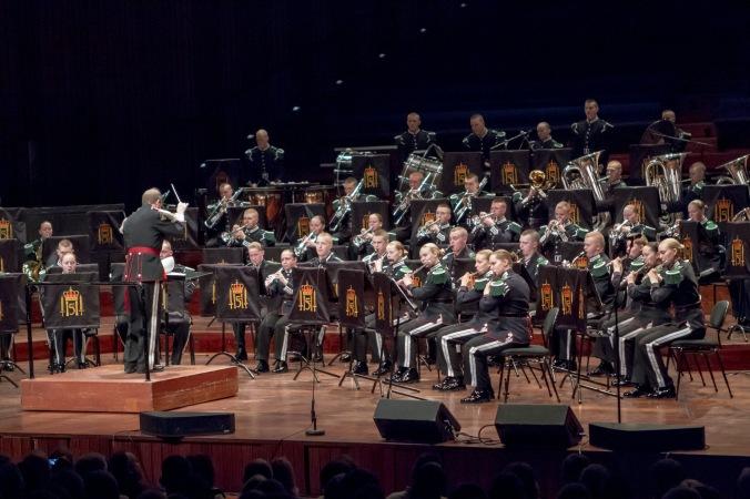 Hovedkorpset under årets Festkonsert i Oslo Konserthus.Foto: Thomas Iversen/Forsvaret