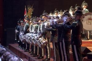 Signalkorpset i aksjon under festkonserten i Oslo Konserthus i januar. Foto: Thomas Iversen/Forsvaret
