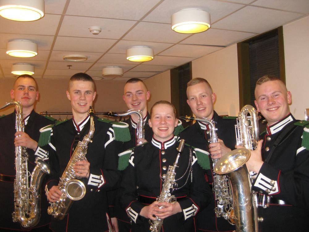 Gardemusikkens saxofongruppe