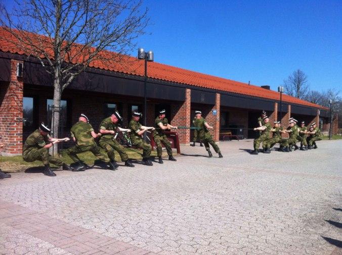 Fra soldataksjonen i Huseby leir.