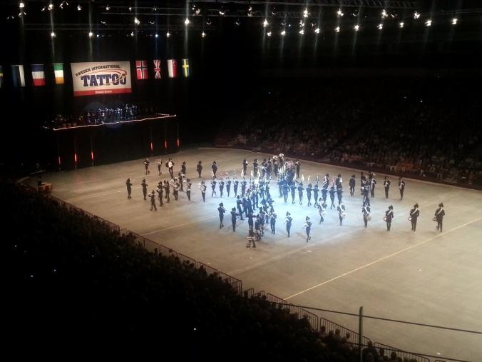 """Gårsdagens drill i Malmø Arena, her til """"Vidda"""" av Ole Edvard Antonsen."""