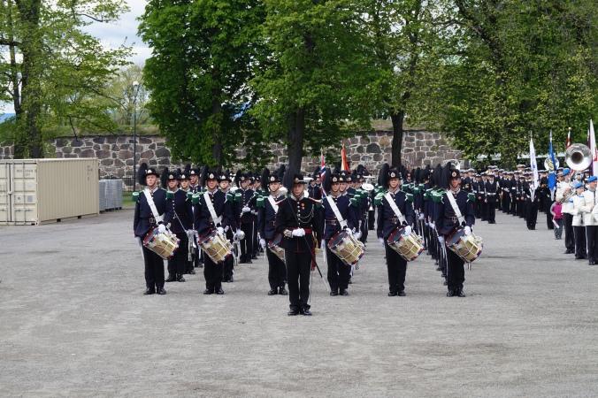 Kp3 oppstilt på Akershus Festning før parade