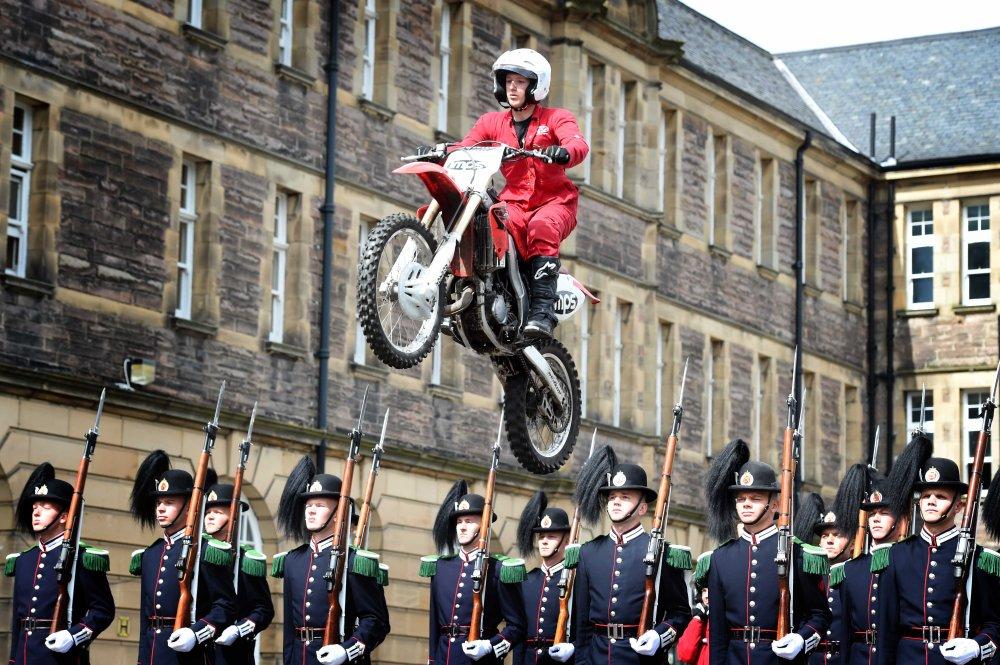 The Royal Edinburgh Military Tattoo reherses at Redford Barracks.